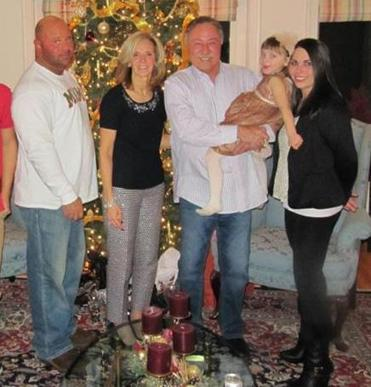 Jared Remy shown with his mother, Phoebe Remy; father, Jerry Remy; daughter, Arianna; and Jennifer Martel in a Christmas 2012 photo that Martel had posted to her Facebook account.